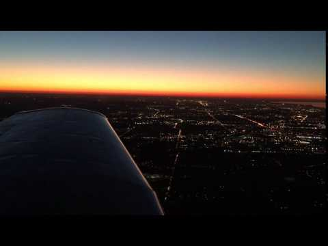 Sunset on Cleveland's East Side at 3,000 ft