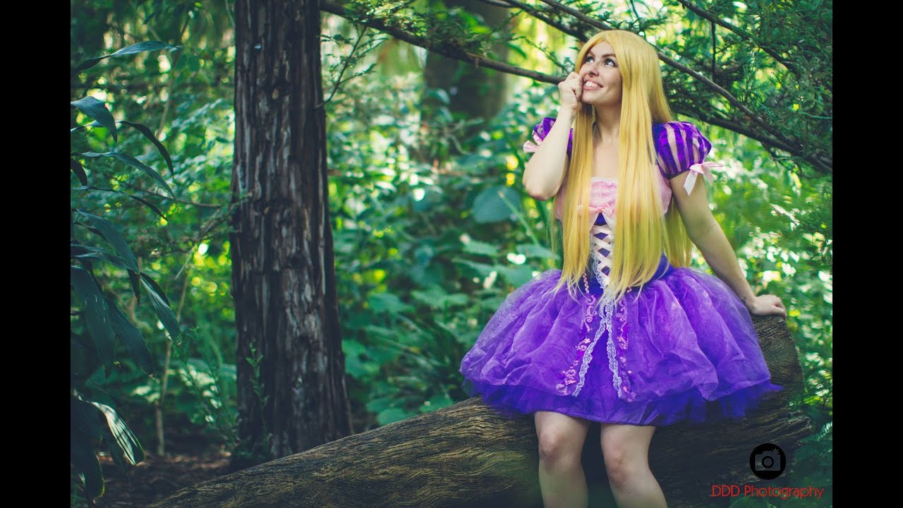 & Costume Review - Rapunzel from Disneyu0027s Tangled - YouTube