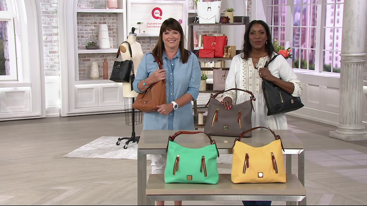 00f2af82dbb892 Dooney & Bourke Pebble Leather Hobo Handbag- Cooper on QVC - YouTube