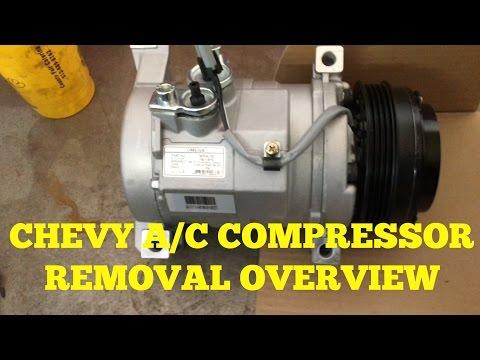 Chevy Suburban Silverado A C Compressor Removal Overview Youtube