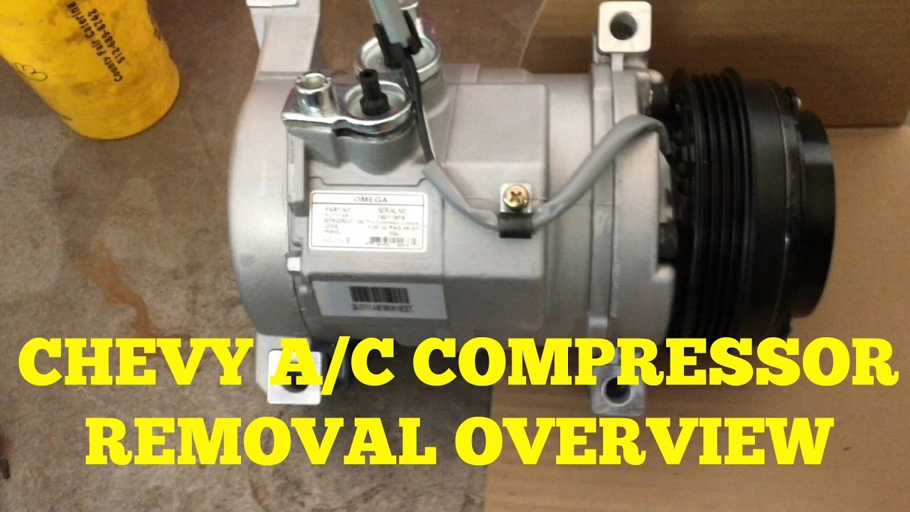 hight resolution of chevy suburban silverado a c compressor removal overview