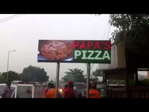 Appa led, Outdoor  advertising electronics led light display screen manufacturer in ghana and also