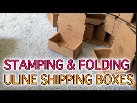 BEHIND THE SCENES : Stamping & Folding Uline Shipping Boxes - YouTube