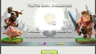 Getting to the bronze league in clash of clans😎