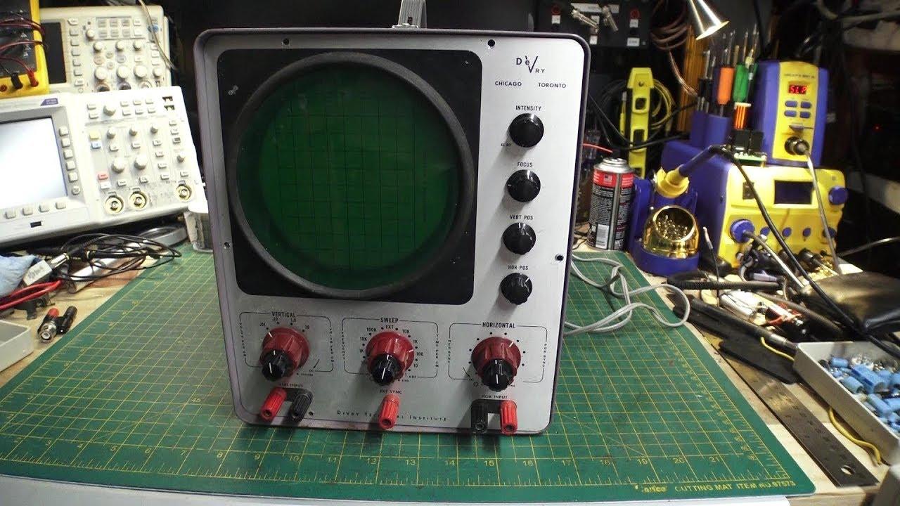 Download Oscilloscope Series - Part 1 - DeVry Oscilloscope Repair & Restore