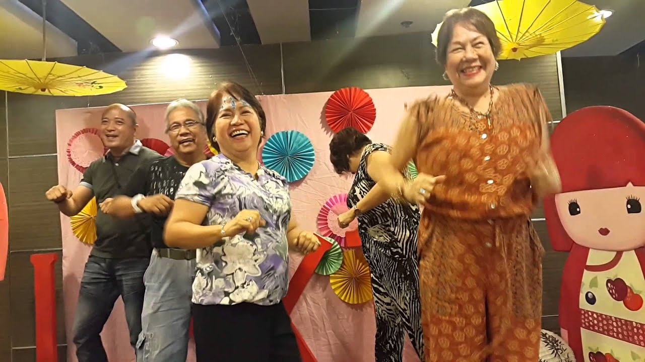 Seniors Having Fun In A Dance Game Kiddie Party Youtube