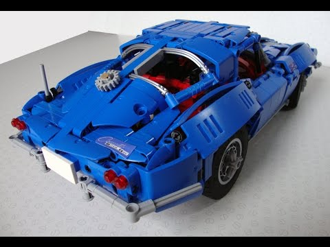 lego technic chevrolet corvette c2 stingray doovi. Black Bedroom Furniture Sets. Home Design Ideas