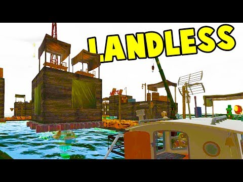 THE RAFT CITY GOT A HUGE UPDATE! We Upgrade Our Boat as Well - Landless Early Access Gameplay