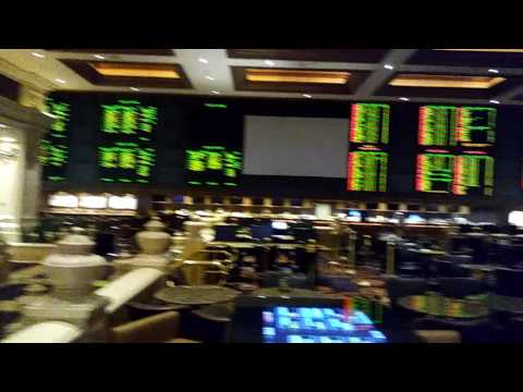 Late night tour of Mandalay Bay Sportsbook