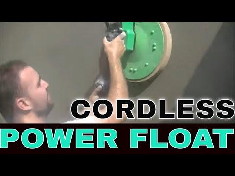 Power Floating Cement and Sand Render Walls Refina Eibenstock Cordless Power Float