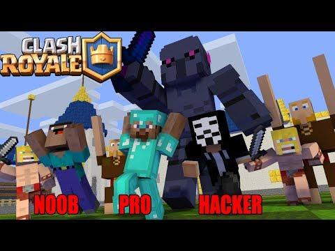 Monster School : NOOB VS PRO VS HACKER CLASH ROYALE   Minecraft Animation
