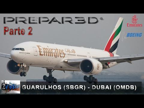 PREPAR3D | PARTE 2 | B777 EMIRATES | APROXIMAÇÃO E POUSO NO DUBAI