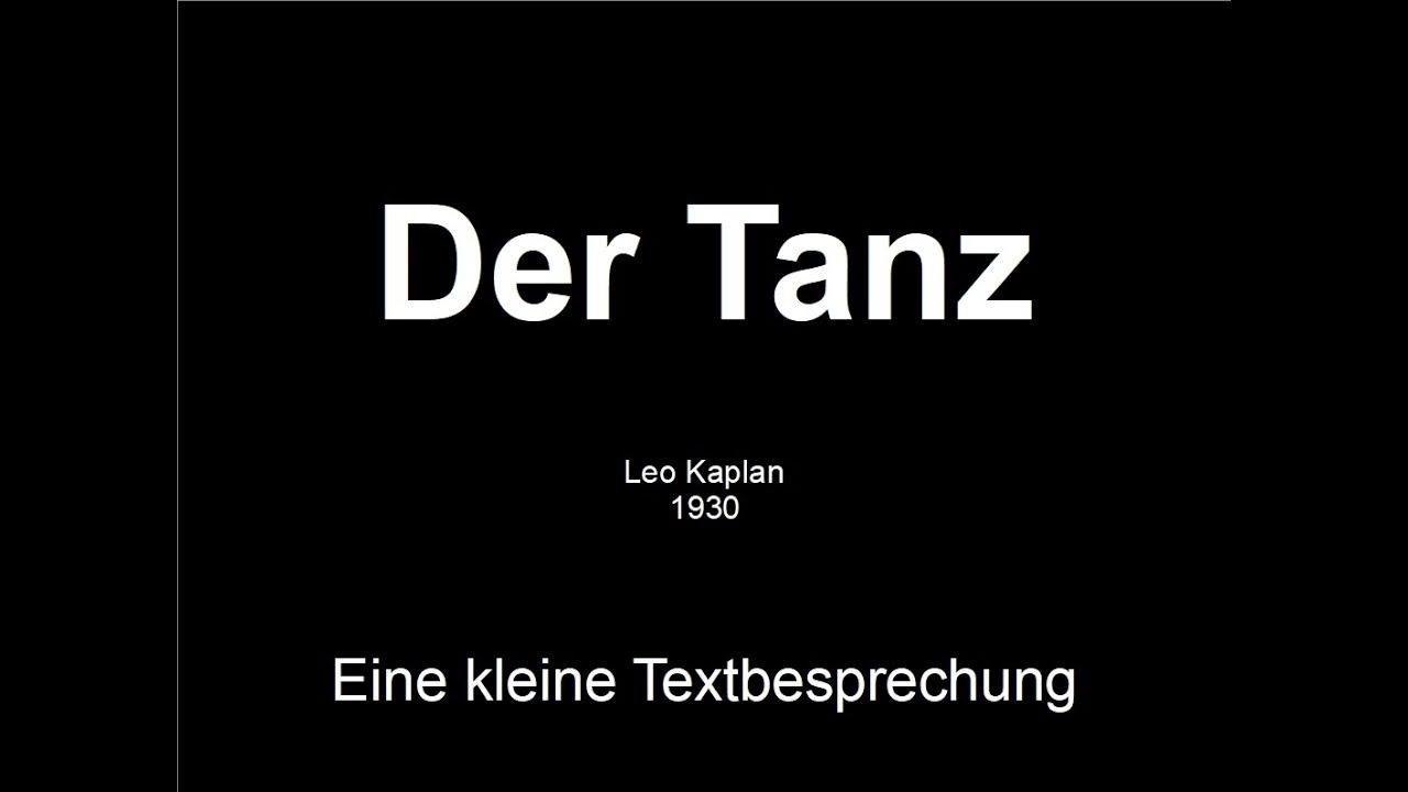 Leo Kaplan – Der Tanz (1930)