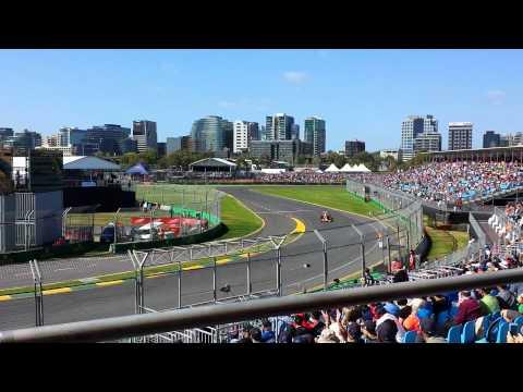 Cars installation lap to #F1 #AusGP grid.
