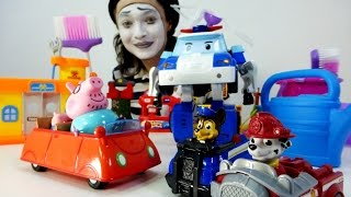 Auto Service clown Alex. Funny video with toys Cartoon ������� ����� � ��������� �� ������������
