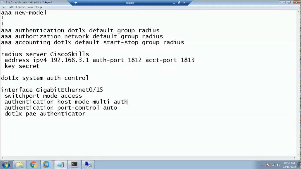 802 1x switch configuration