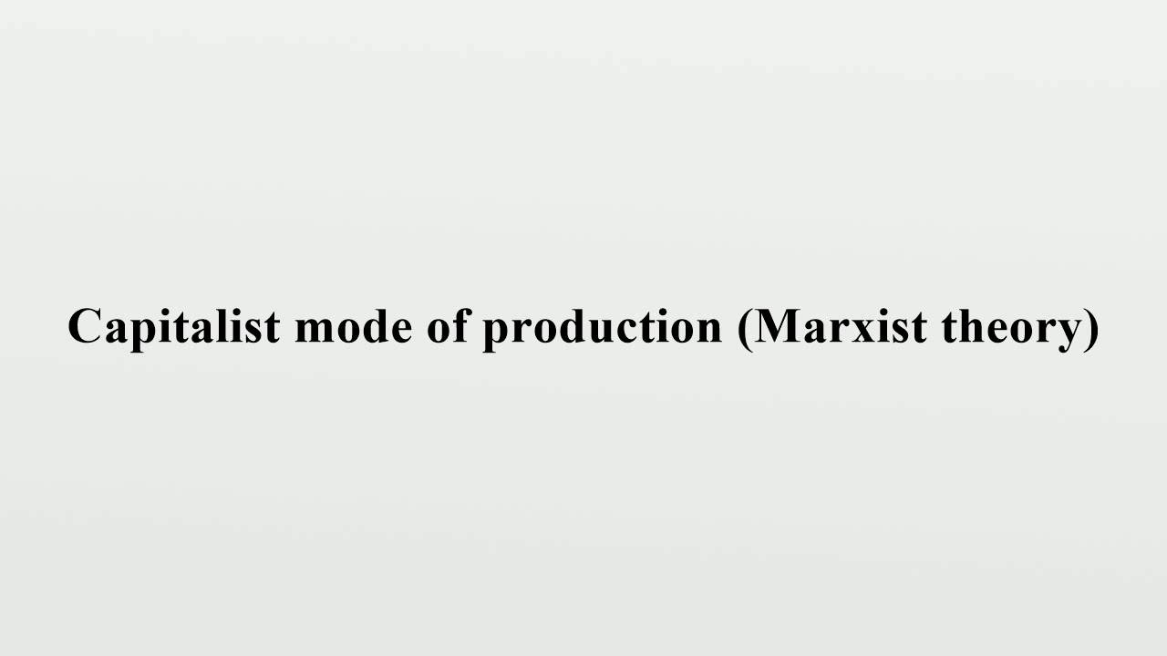 definition of theory of production