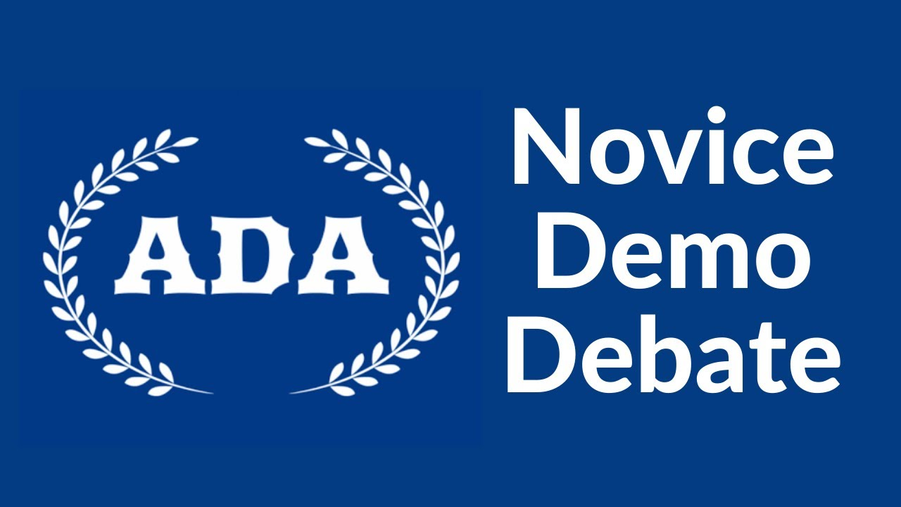 American Debate Association Novice Packet Demo Debate