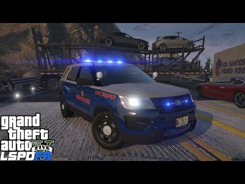 GTA 5 LSPDFR Police Mod 289 |Georgia State Patrol|Truck Driver Blocks Road & Ends High Speed Pursuit