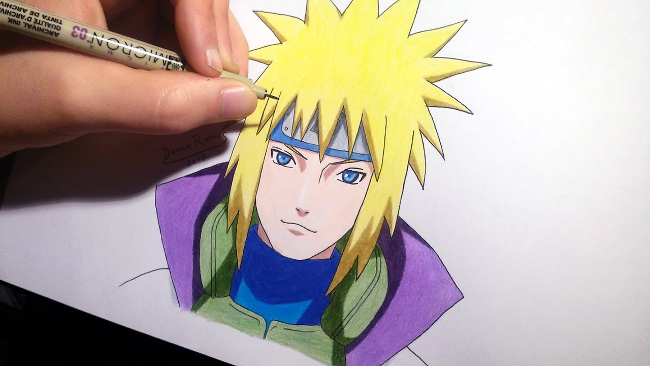 How to draw Minato/4th Hokage | speed drawing - YouTube
