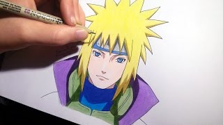 How to draw Minato/4th Hokage | speed drawing
