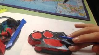как сделать кастет из пластилина