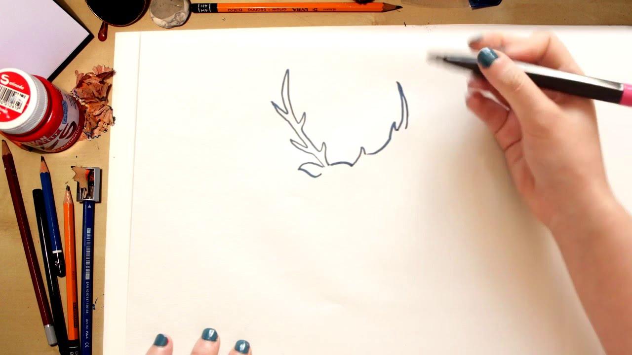 Como dibujar un Ciervo - dibujos para niños - YouTube