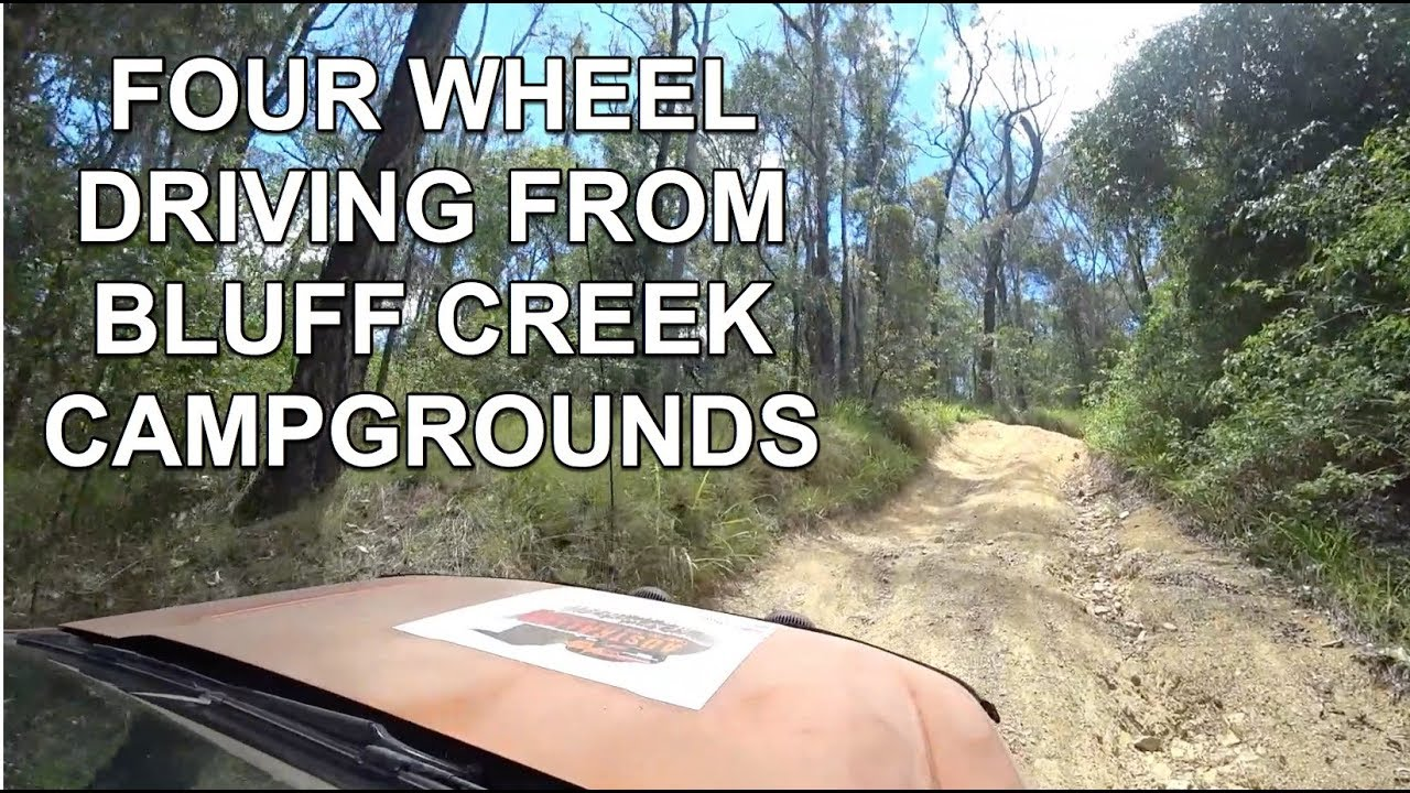 Four Wheel Driving From Bluff Creek Campgrounds Imbil Youtube