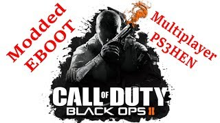 Will They Banned Me?? Call of Duty Bo2 Modded EBOOT Multiplayer PS3HEN