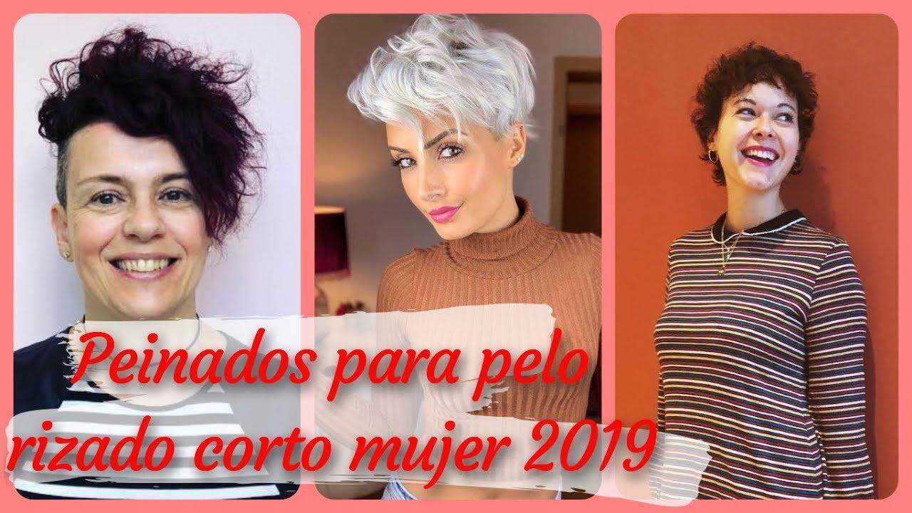 20 Modelos De Peinados Para Pelo Rizado Corto Mujer 2019