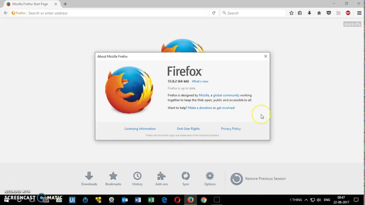 How to Update Mozilla Firefox Browser ( AUG 2017 )