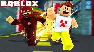 I RAN FASTER THAN FLASH ON ROBLOX!! -(100000 KM PER HOUR)