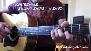 WHITESNAKE Sailing ships (Guitar Cover)