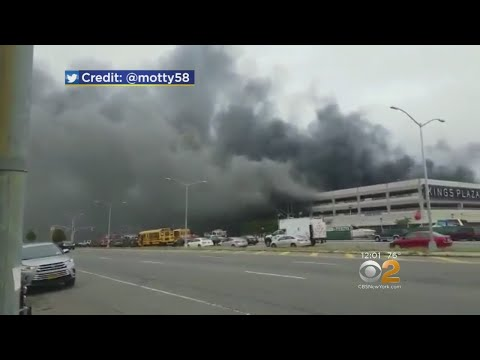 7-Alarm Fire Burns Parking Garage In Brooklyn