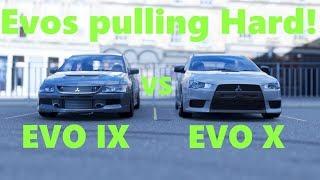Mitsubishi EVO in Forza Horizon 4   pulling, cruising, drag racing