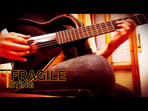 my acoustic version fragile by sting first test my new guitar yamaha silent guitar slg200n. Black Bedroom Furniture Sets. Home Design Ideas