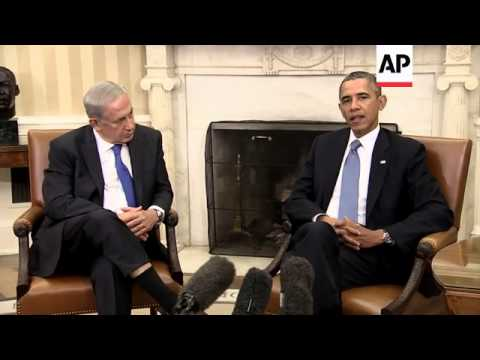 President Obama and Israeli PM Netanyahu talk about Iran and Syria