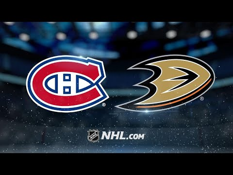 Gibson, Grant lead Ducks to 6-2 win against Canadiens