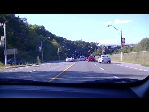 Drive along Rosedale Valley Road & Bayview Ave Toronto 20130916