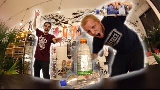 EPIC BOTTLE FLIPPING IN A SKATE SHOP!