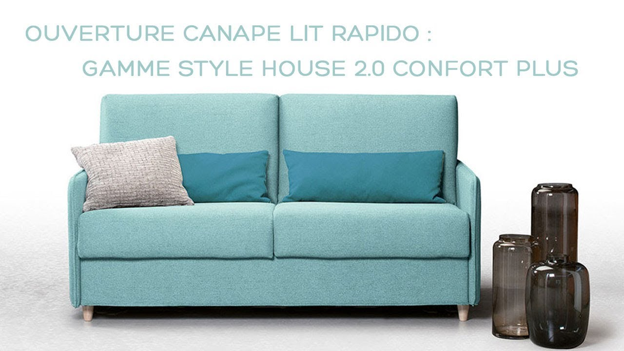 Canape Convertible Usage Intensif Canapé Convertible Couchage Quotidien Cosy Ronnie Confort Plus