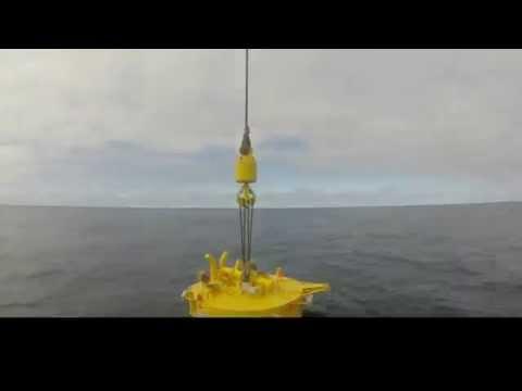 LiftLOK Suction Pile Deployment - Crane Gantry Footage