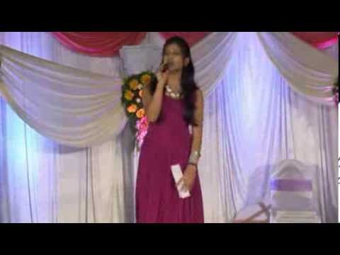 Anchor / Emcee Khushi hosting sangeet ceremony