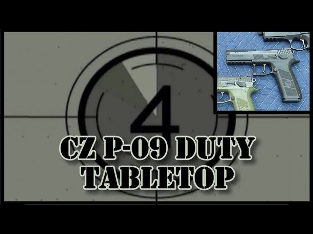 CZ P-09 Duty Tabletop Review: features, function, measurements, field strip, etc