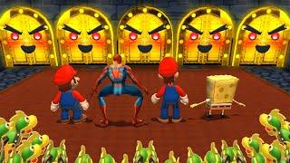 Mario Party 9 MiniGames - Mario Vs Spider Man Vs Luigi Vs SpongeBob (Master Cpu)
