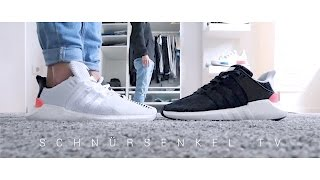 2e22a38d5eb506 adidas Equipment support BOOST unboxing review on feet german EQT