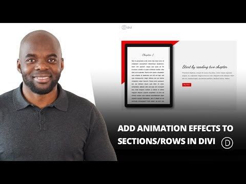 How to Add Animation Effects to Sections or Rows in Divi