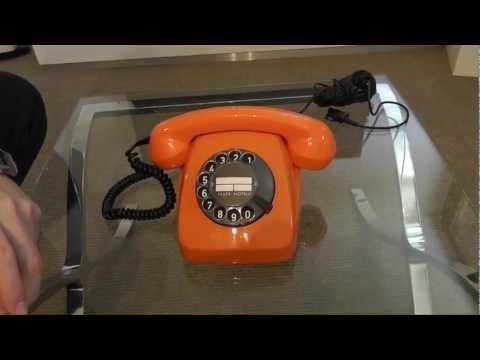 Wählscheibentelefon 1970 Orange - Telefonieren wie ein Chef