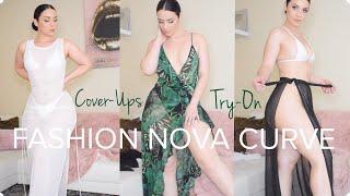 Cute Cover-Ups Try-On | FASHION NOVA CURVE