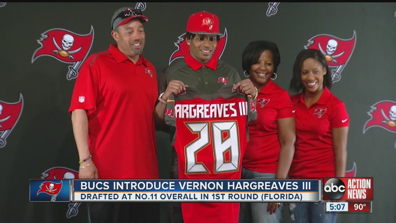 Buccaneers introduce first draft pick Vernon Hargreaves to fans ... c2bb0ac3ba0b